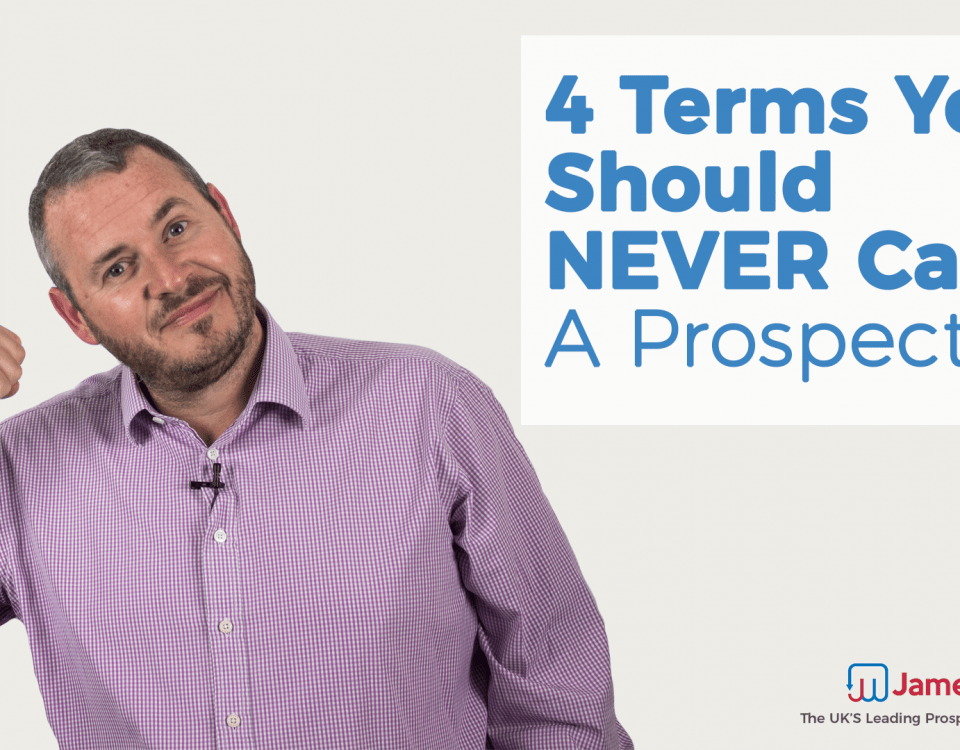 4 terms you should never use with a prospect