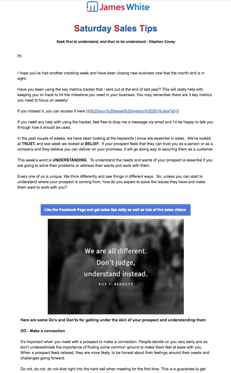 James White Email Archive 26th January